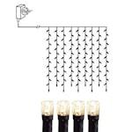 823847 Ljusgardin Micro LED 100 ljus 1x1m svart kabel
