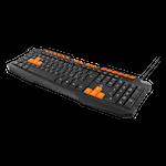 824581 Deltaco gaming tangentbord anti-ghosting USB nordisk layout svart-orange