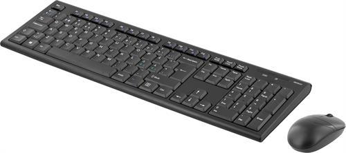 Deltaco trådlöst tangentbord och mus nordisk layout USB svart