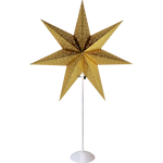 825177 Stjärna på fot Dot guldfärgad 70cm hög