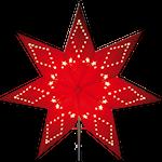 825328 Pappersstjärna Katabo röd 43cm bara stjärnan