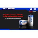 821859 Batteri laddbart Li-Ion RCR123A 3,7V Jetbeam