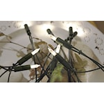 341502 P-LED ljusslinga 20 ljus varmvit grön kabel