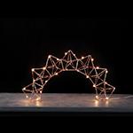 825161 Ljusstake Edge LED kopparfärgad 27cm hög