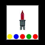 824567 Pisellolampa 5 färger 2,5V 0,45W för 100 ljus
