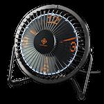 824660 DELTACO GAMING USB bordsfläkt med klocka visar timmar minuter och sekunder svart