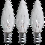 825367 Reservlampa klar 3-pack 34V för 7 ljus E10
