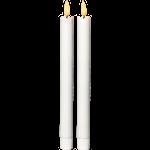 824540 LED antikljus Flamme 2-pack 25cm höga vit med timer
