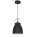 824524 Airam Sansa taklampa svart-koppar E27