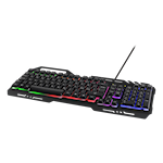 824583 Deltaco gaming tangentbord RGB-belysning nordisk layout metallram svart