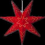 825285 Pappersstjärna Sensy 54cm röd