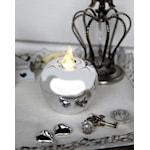 821590 Dekorationsäpple silverfärgat 8cm