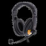 824580 Deltaco gaming headset svart-orange 2x3,5mm
