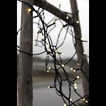 Serie LED ljusslinga 120 ljus varmvit svart kabel 7m med 8 funktioner