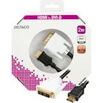 821380 HDMI till DVI-kabel 2m svart