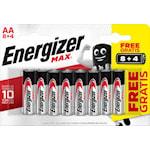825083 Batteri AA LR16 12-pack Energizer MAX