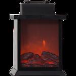 824541 Lykta fireplace 21cm hög svart med timer för inomhusbruk