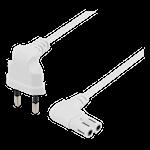 824324 Deltaco ojordad apparatkabel EU-kontakt vinklad 2m