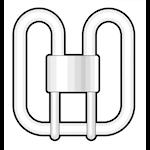821472 Kompaktlysrör 28W 1950lm  3500K 2D 4-stift GR10q