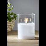 825315 LED blockljus Flamme glas 12,5cm hög timer