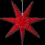 825286 Pappersstjärna Sensy 70cm röd