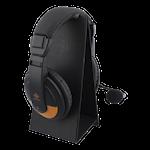 824585 DELTACO GAMING Universellt hopfällbart headsetstativ lättviktig PU Läder svart