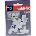 312207 Kabelkanal Cablefix skarvsats vit 10,5mm