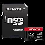 825343 AData microSDHC, SD 32Gb - A2/Video Class V30/UHS-I U3/Class10