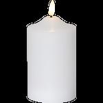 825313 LED blockljus Flamme 15cm timer 2xAA