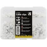 821795 Kabelklammer med stålspik 4 storlekar 230-pack