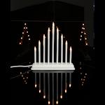 825185 Ljusstake Trix vit 9 ljus 30cm hög