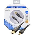 821361 USB kabel Typ A hane - Typ Mini B Hane 1m svart
