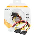 821324 Y-strömkabel för 2xSATA hårddiskar
