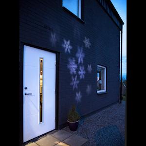 Köp Projektorlampa LED snöflingor utomhus IP44 | pålyset.se