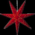 825287 Pappersstjärna Sensy 100cm röd