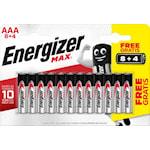 825064 Batteri 12-pack AAA Energizer Max